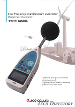 "Precision sound level meter / Low frequency sound pressure level meter ""TYPE 6238L"""