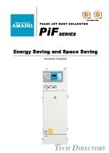 "AMANO INTELLIGENT DUST COLLECTOR PULSE JET TYPE ""PiF SERIES"""