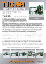 CONCRETE PRODUCTS MACHINES「TG SERIES」
