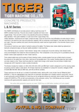 CONCRETE PRODUCTS MACHINES「L&M Series」