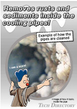 """WATER REAMER"" removes rusts and sediments inside the cooling pipes!"