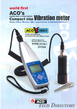 "Compact Size Vibration Meter ""TYPE 3116"""